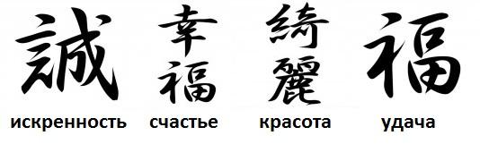 Китайские иероглифы тату