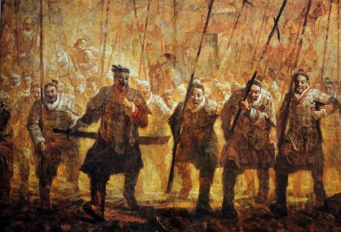 Китайские солдаты династии Хань
