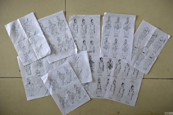 рисунок 100 терракотовых воинов