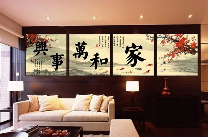 4-piece-canvas-wall-art-Room-decoration-Beautiful-wall-painting-Koi-fish-wall-art-Chinese-traditional